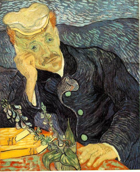 Portrait of Dr. Gachet-Vincent Van Gogh