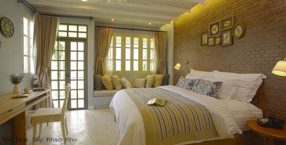 ห้องนอนThe Blue Sky Khao Kho