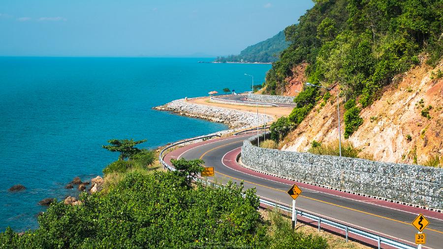 จุดชมวิวเลียบหาด ถนนคุ้งวิมาน
