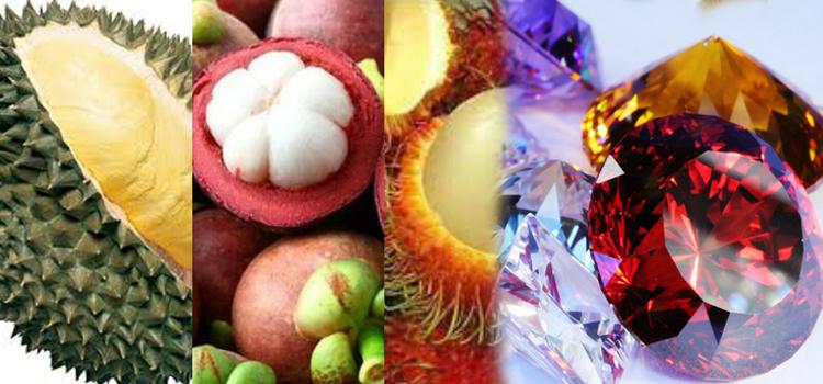 อัญมณีและผลไม้ จังหวัดจันทบุรี