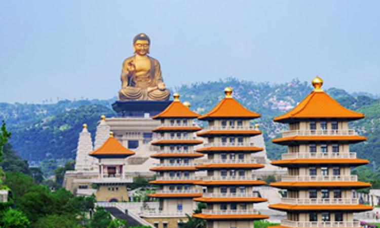 พระพุทธรูปใหญ่ แห่งพุทธอุทยาน โฝ กวง ซาน ประเทศไต้หวัน