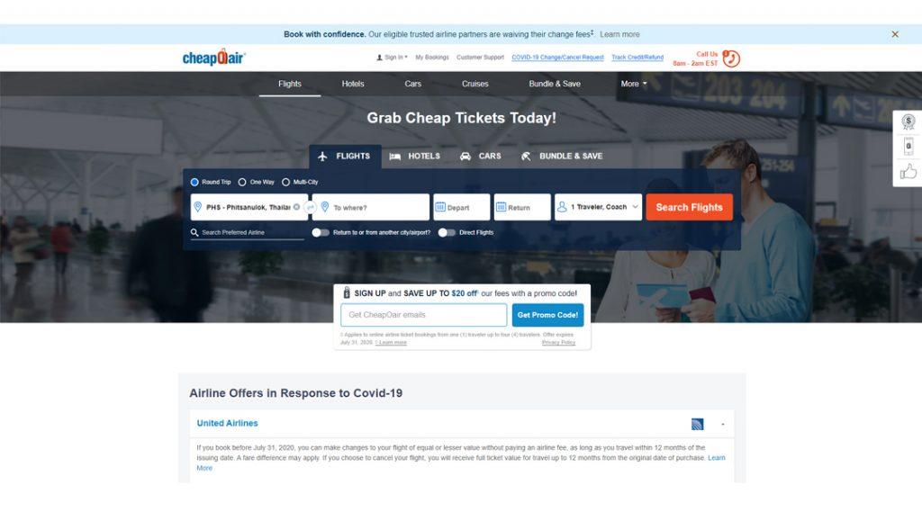 10 อันดับเว็บไซต์ จองตั๋วเครื่องบิน สายเที่ยวห้ามพลาด 6